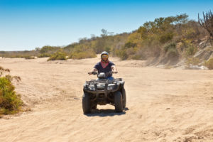 All Terrain Vehicle rider in Cabo San Lucas, Mexico